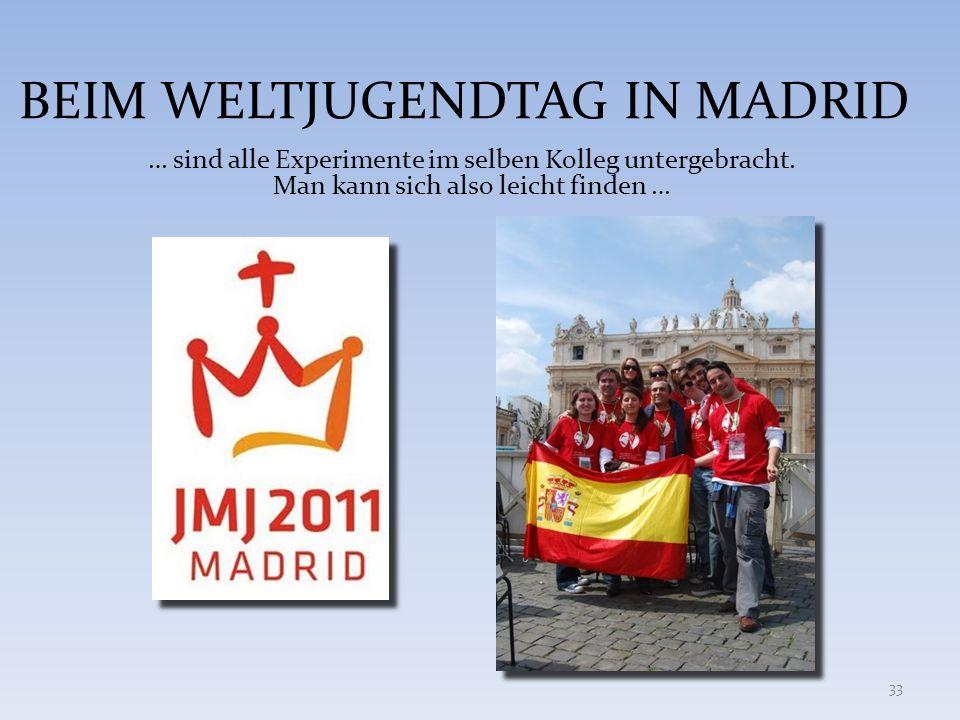 BEIM WELTJUGENDTAG IN MADRID