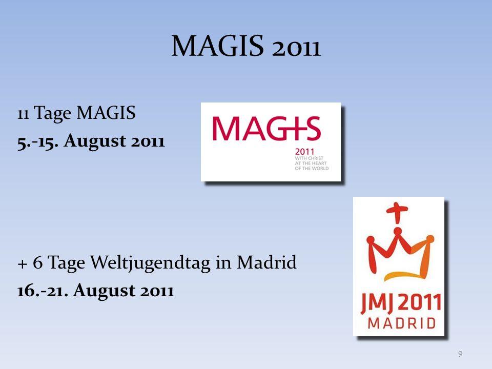 MAGIS 2011 11 Tage MAGIS 5.-15. August 2011