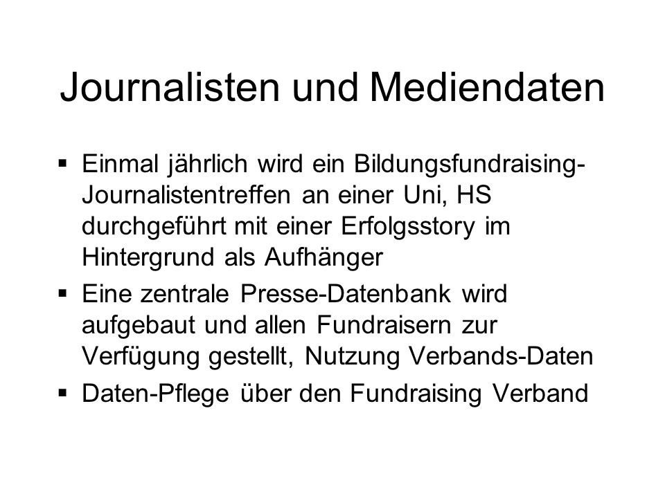 Journalisten und Mediendaten