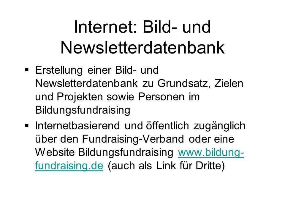Internet: Bild- und Newsletterdatenbank