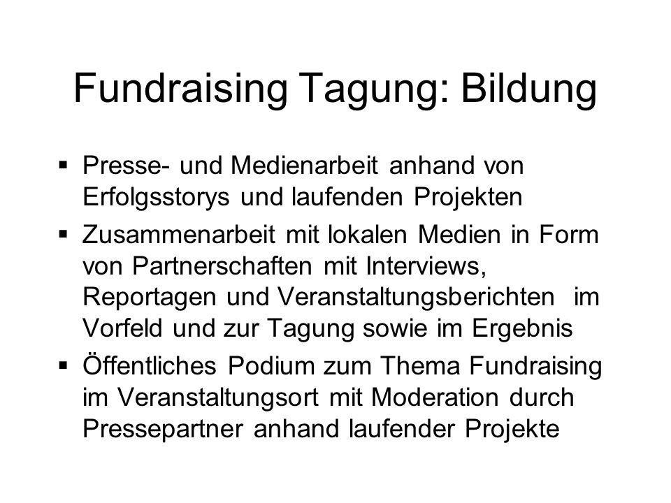Fundraising Tagung: Bildung