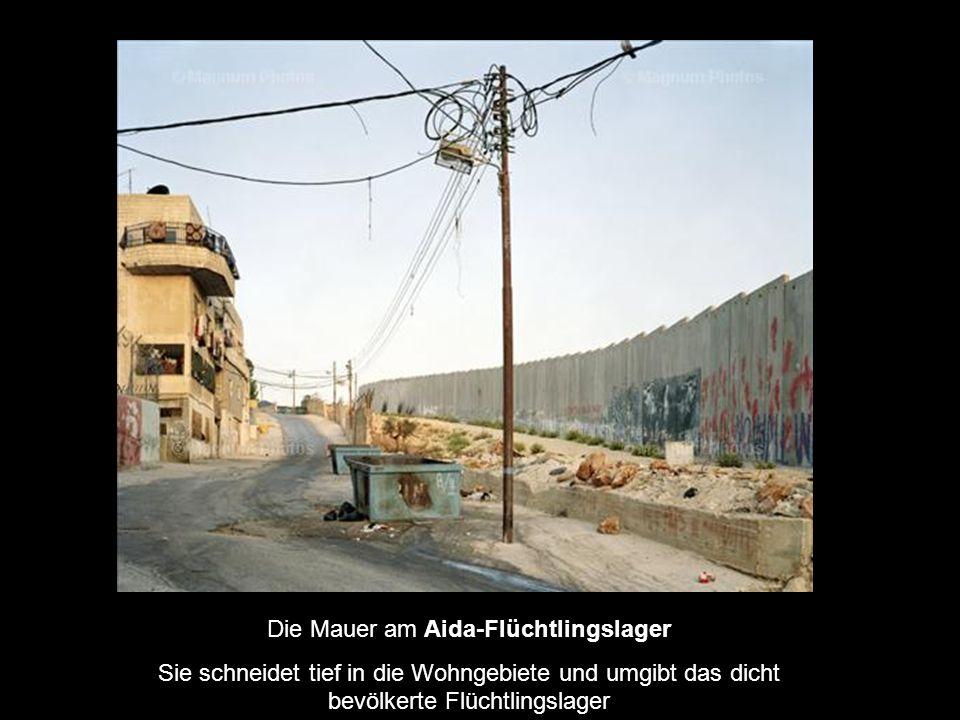 Die Mauer am Aida-Flüchtlingslager