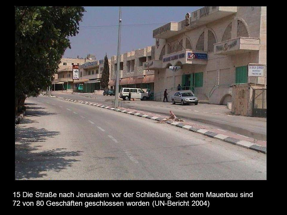 15 Die Straße nach Jerusalem vor der Schließung