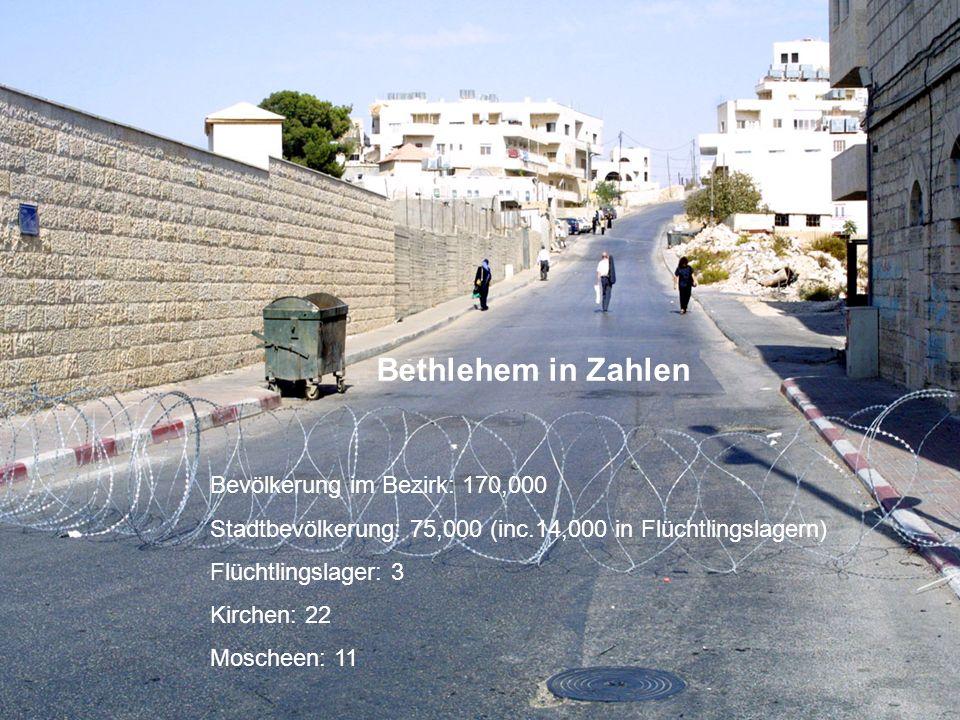Bethlehem in Zahlen Bevölkerung im Bezirk: 170,000
