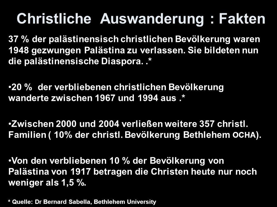 Christliche Auswanderung : Fakten