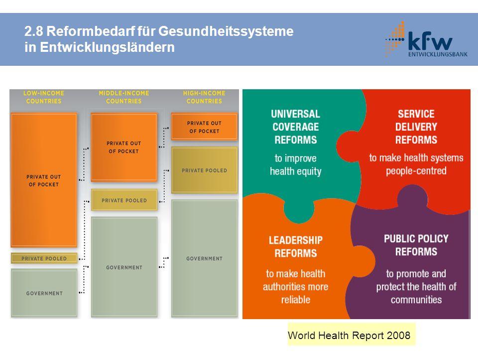 2.8 Reformbedarf für Gesundheitssysteme in Entwicklungsländern