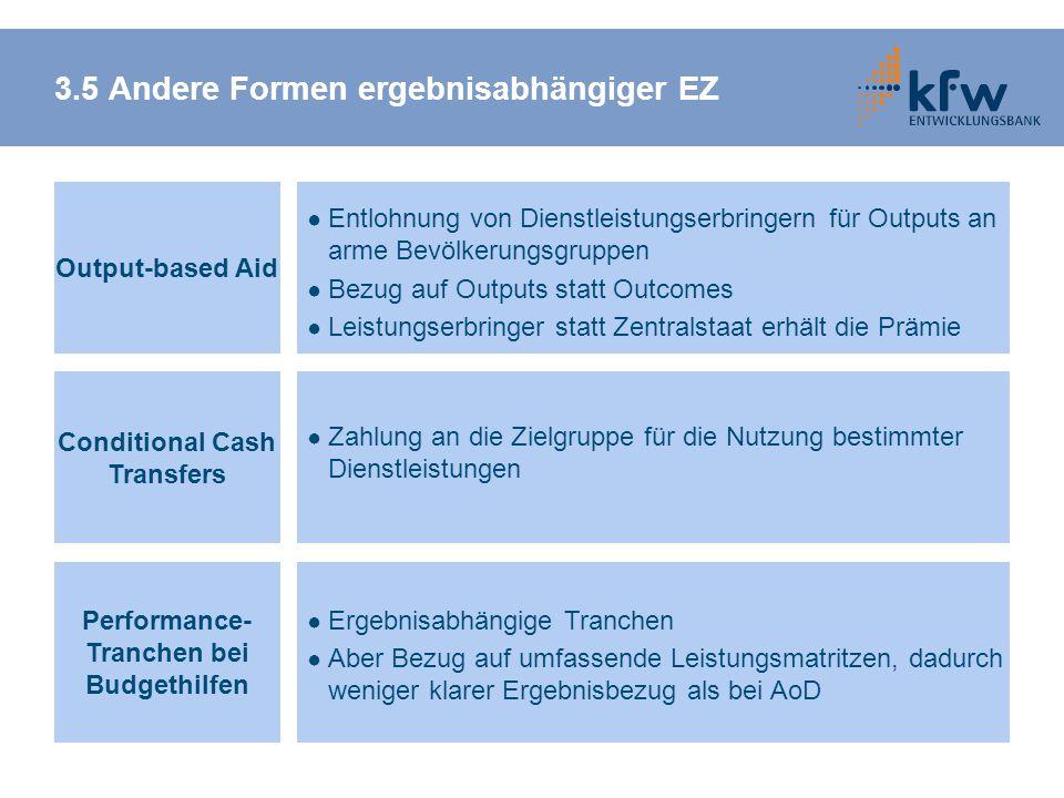 3.5 Andere Formen ergebnisabhängiger EZ