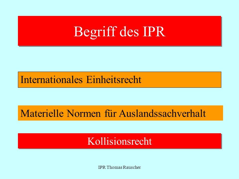 Begriff des IPR Internationales Einheitsrecht