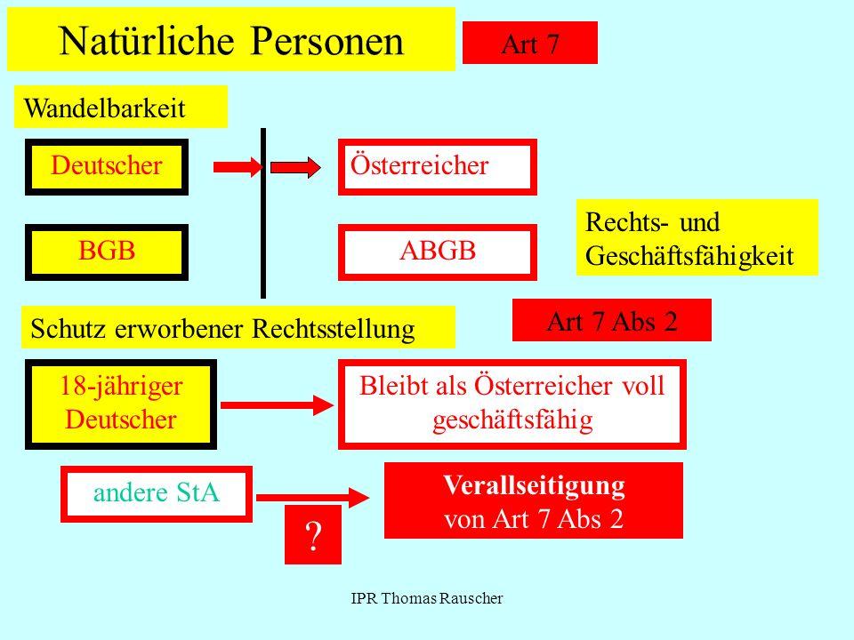 Natürliche Personen Art 7 Wandelbarkeit Deutscher Österreicher