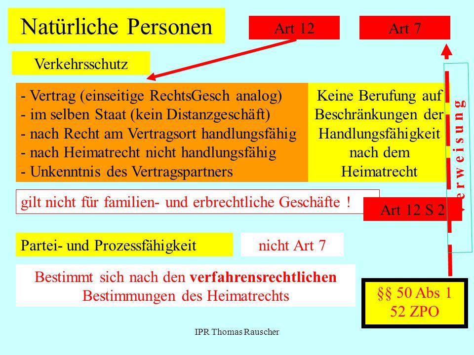 Natürliche Personen Art 12 Art 7 Verkehrsschutz
