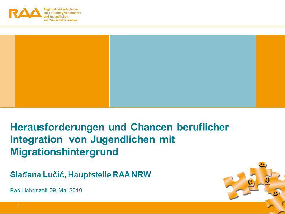 Herausforderungen und Chancen beruflicher Integration von Jugendlichen mit Migrationshintergrund