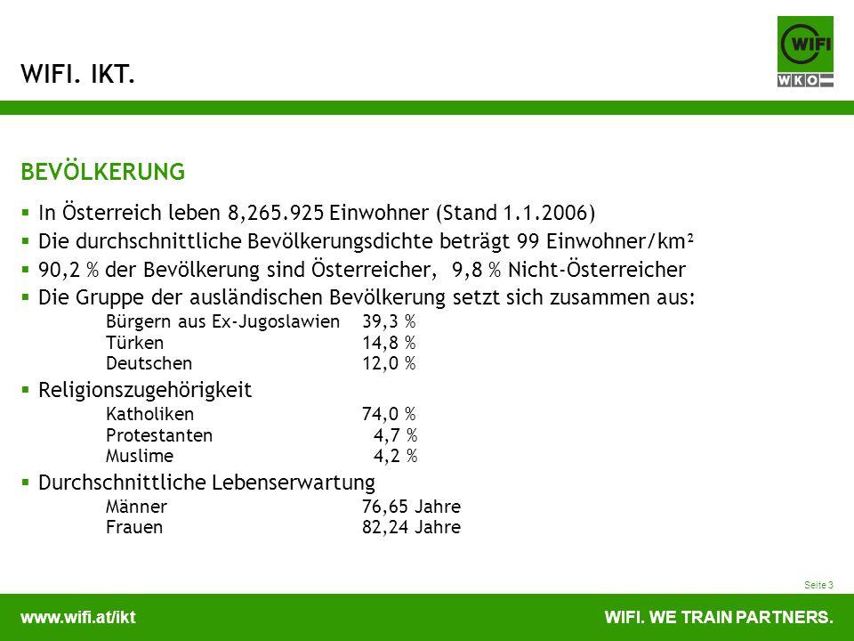 BEVÖLKERUNG In Österreich leben 8,265.925 Einwohner (Stand 1.1.2006)