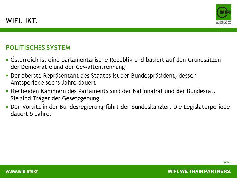 POLITISCHES SYSTEM Österreich ist eine parlamentarische Republik und basiert auf den Grundsätzen der Demokratie und der Gewaltentrennung.