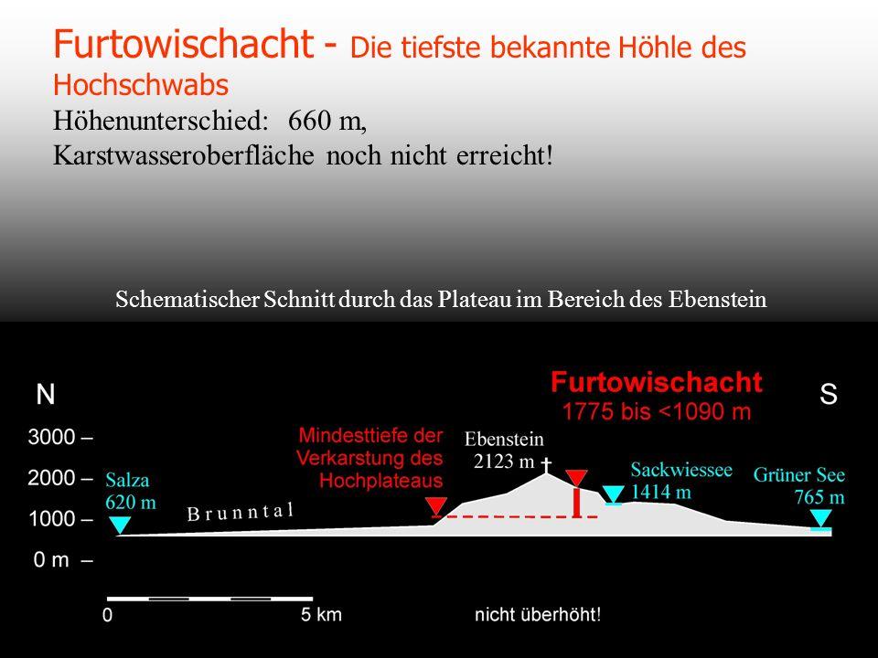 Furtowischacht - Die tiefste bekannte Höhle des Hochschwabs Höhenunterschied: 660 m, Karstwasseroberfläche noch nicht erreicht!