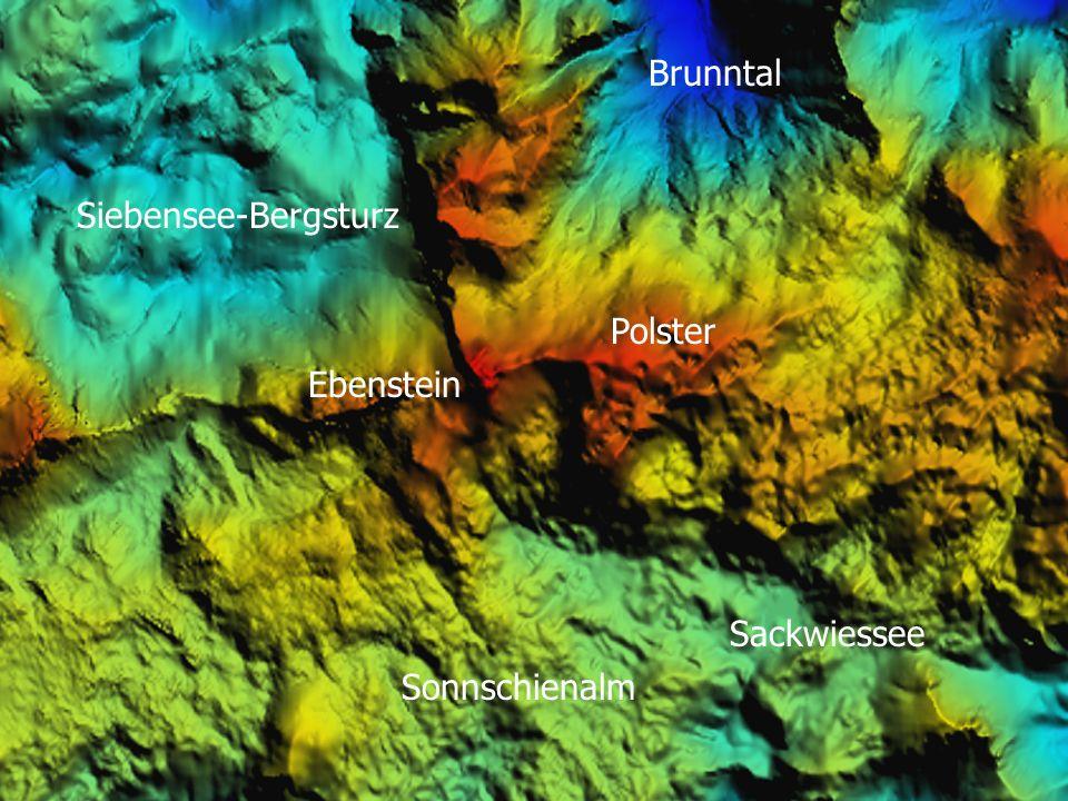 Brunntal Siebensee-Bergsturz Polster Ebenstein Sackwiessee Sonnschienalm