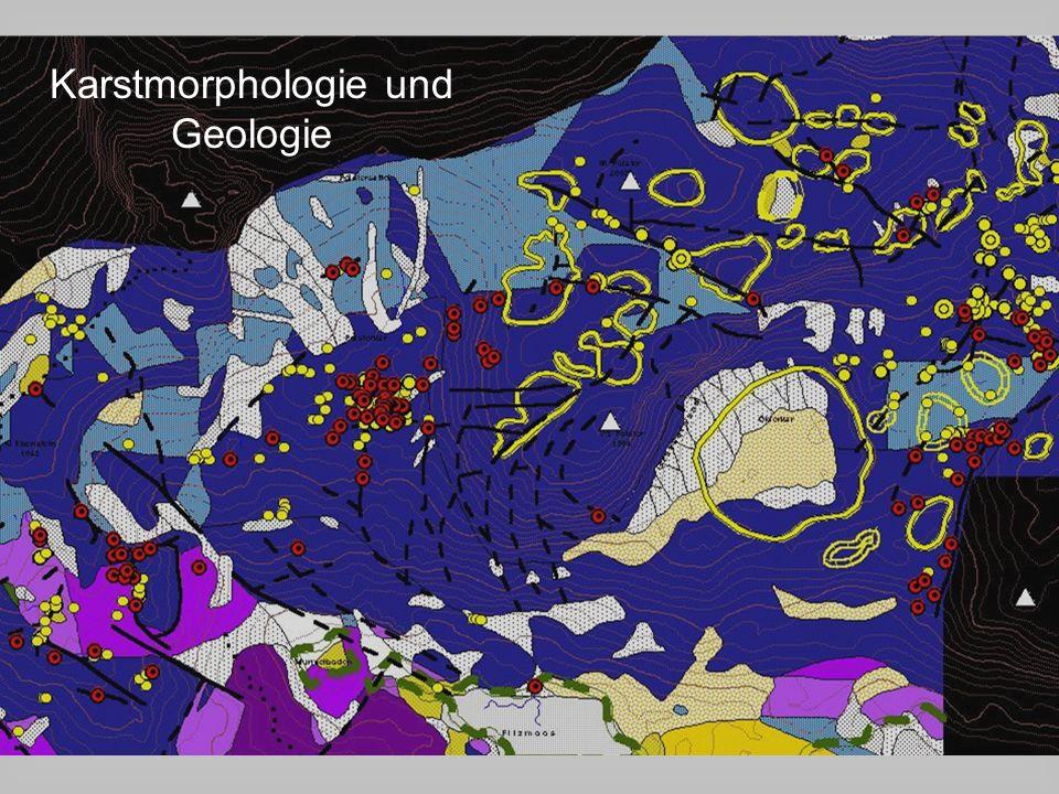 Karstmorphologie und Geologie
