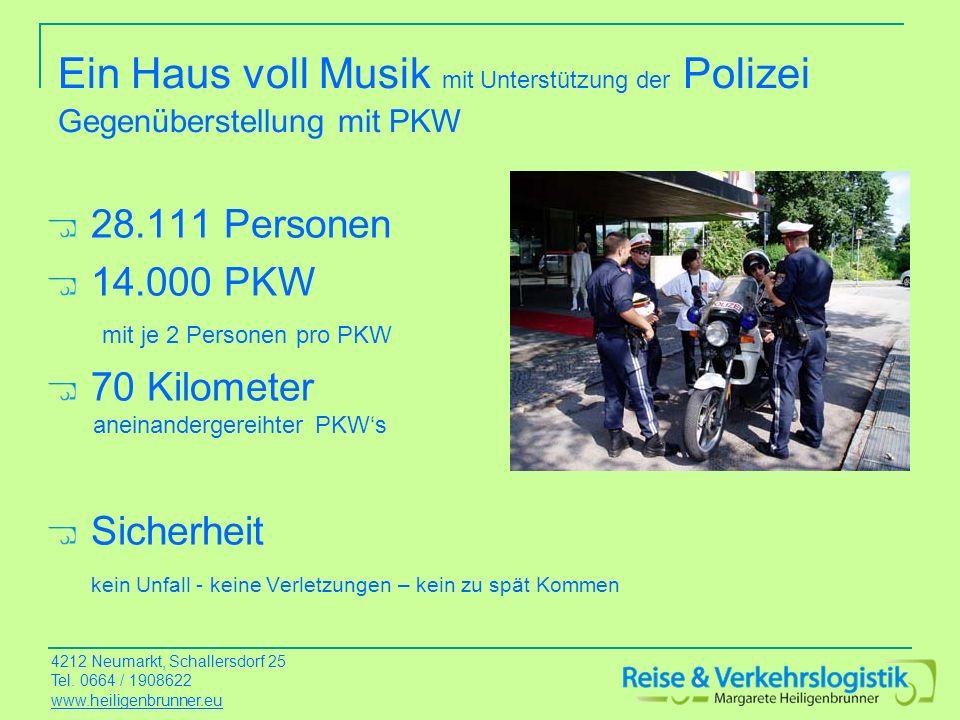 Ein Haus voll Musik mit Unterstützung der Polizei Gegenüberstellung mit PKW