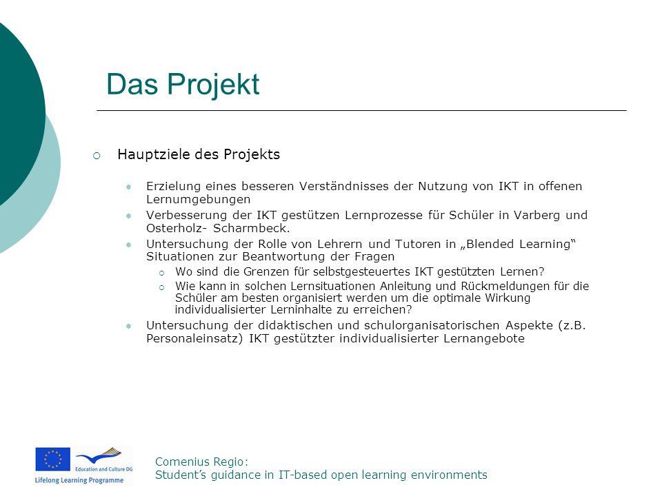 Das Projekt Hauptziele des Projekts