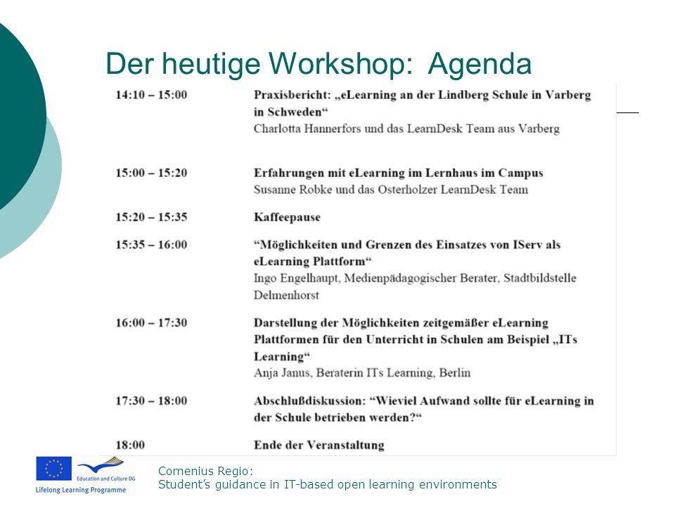 Der heutige Workshop: Agenda