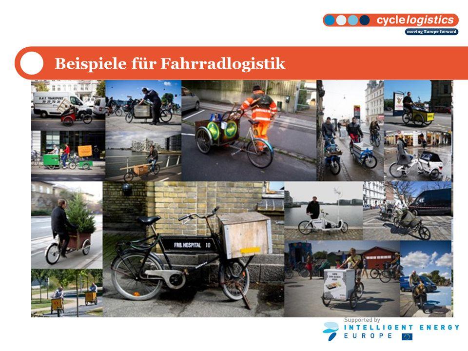Beispiele für Fahrradlogistik