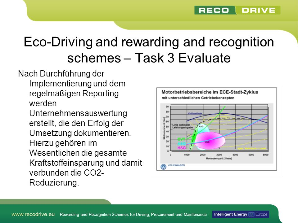 Eco-Driving and rewarding and recognition schemes – Task 3 Evaluate