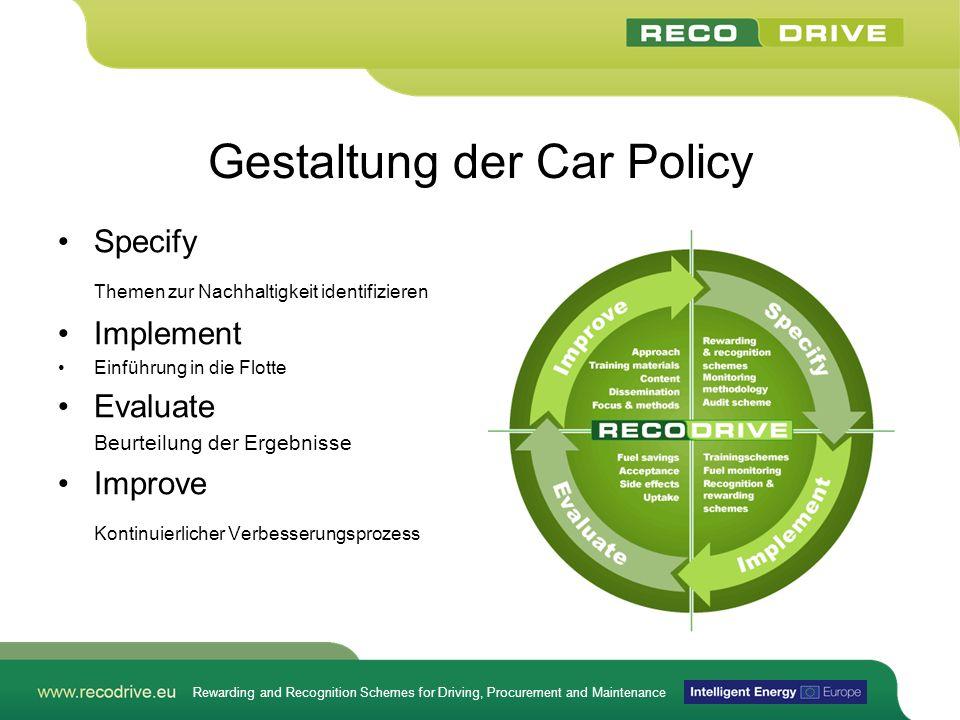 Gestaltung der Car Policy