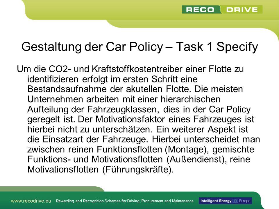 Gestaltung der Car Policy – Task 1 Specify