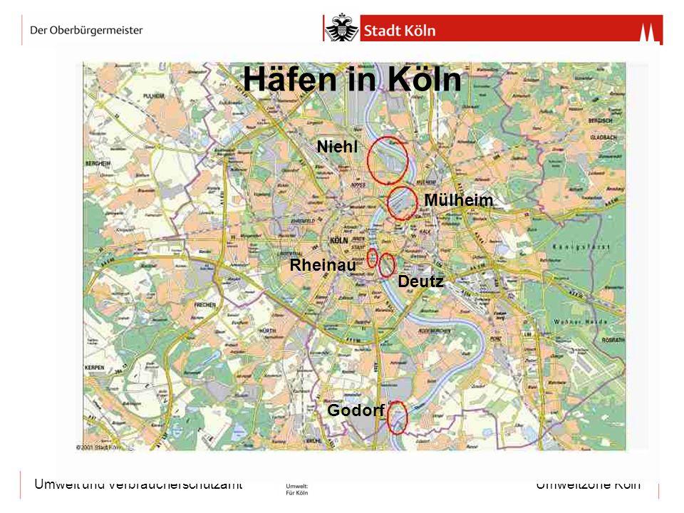 Häfen in Köln Niehl Mülheim Rheinau Deutz Godorf