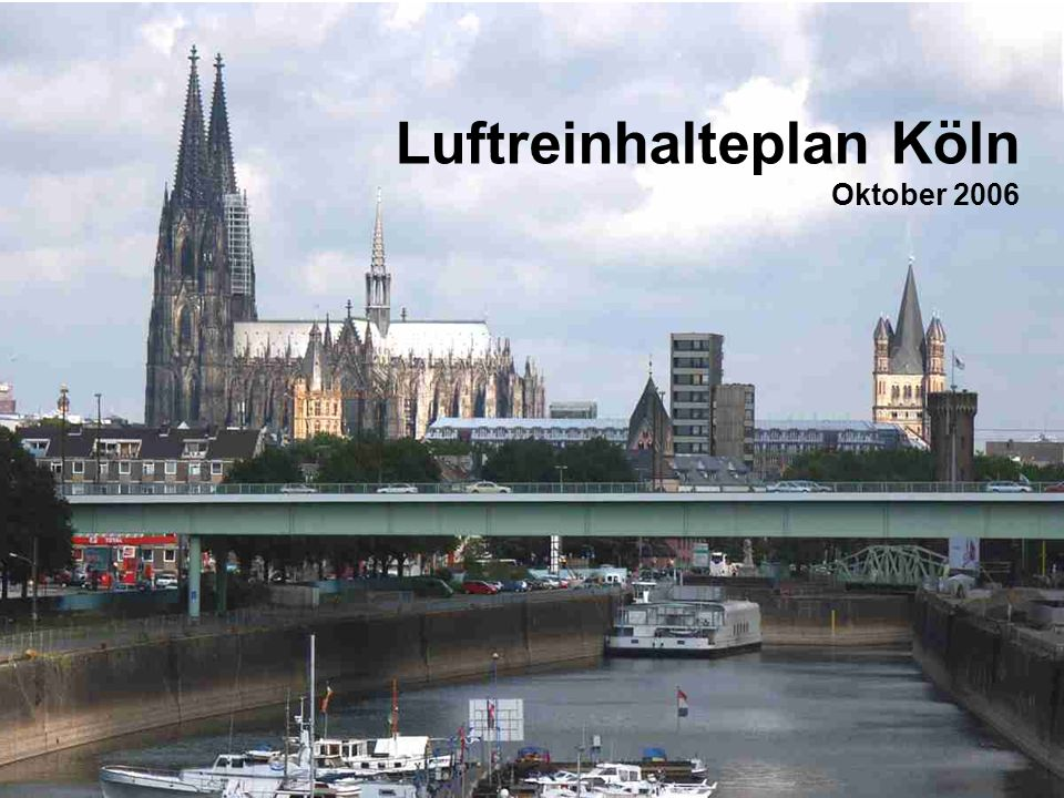 Luftreinhalteplan Köln Oktober 2006