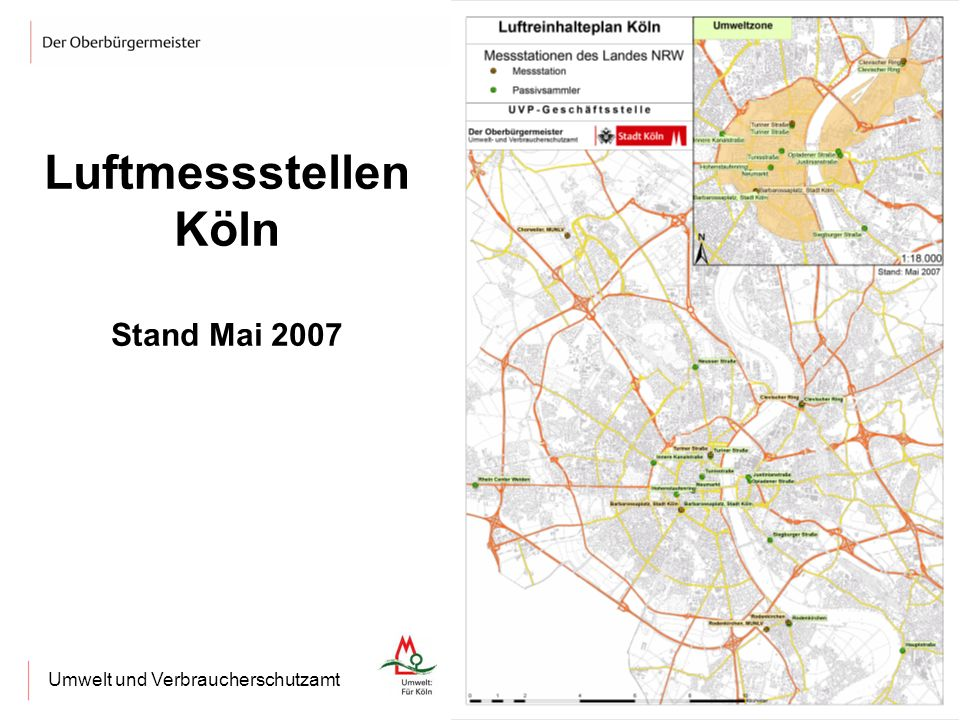 Luftmessstellen Köln Stand Mai 2007