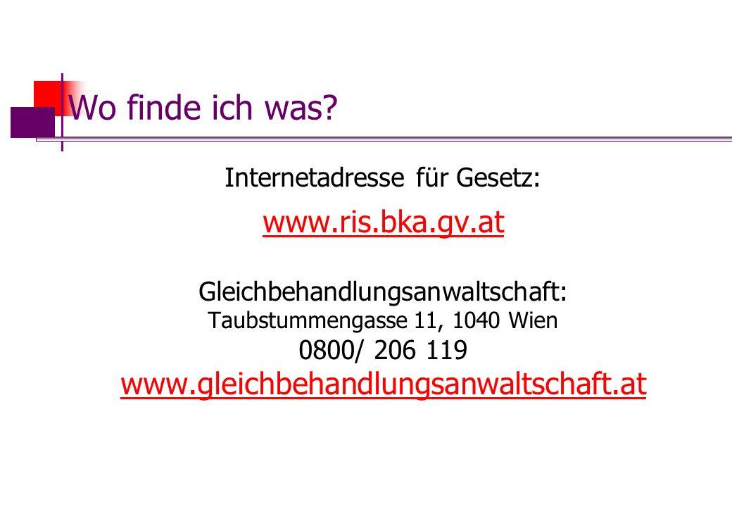 Wo finde ich was www.ris.bka.gv.at