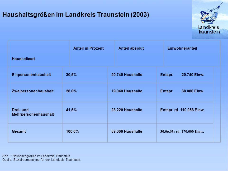 Haushaltsgrößen im Landkreis Traunstein (2003)