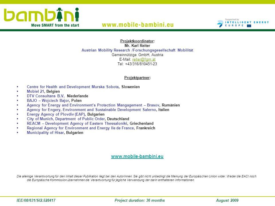 www.mobile-bambini.eu Projektkoordinator: Mr. Karl Reiter