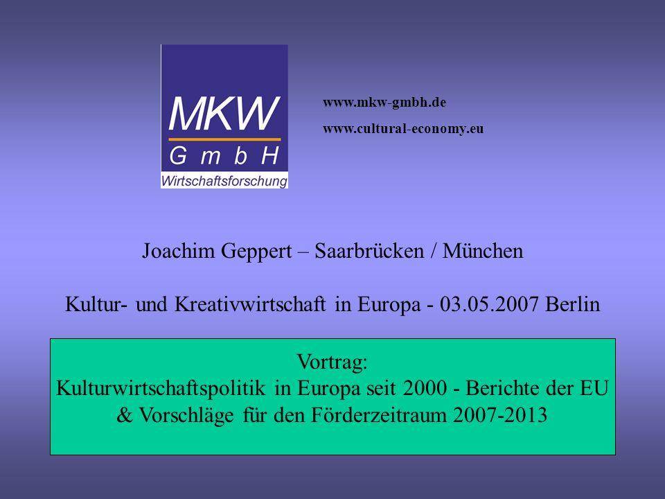 Joachim Geppert – Saarbrücken / München