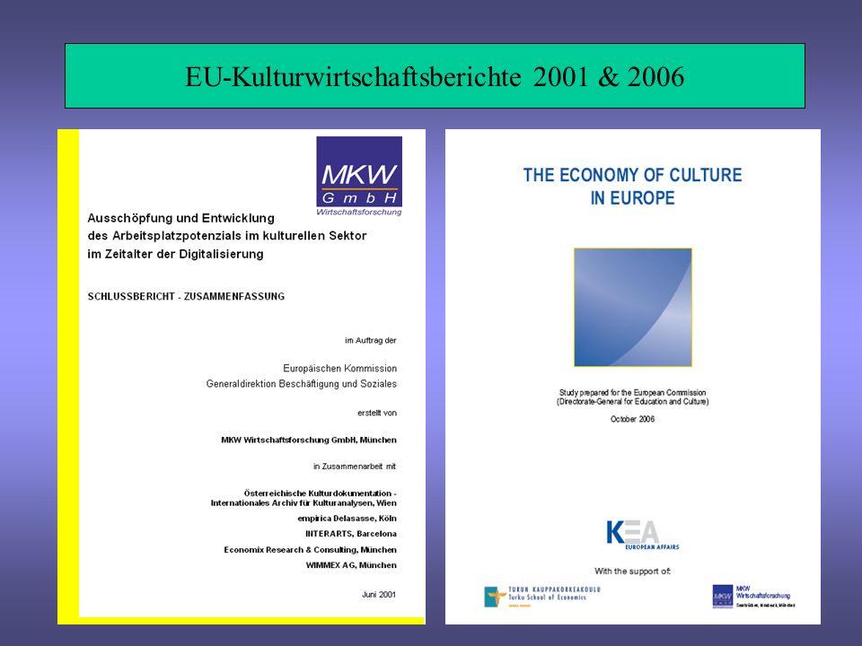 EU-Kulturwirtschaftsberichte 2001 & 2006