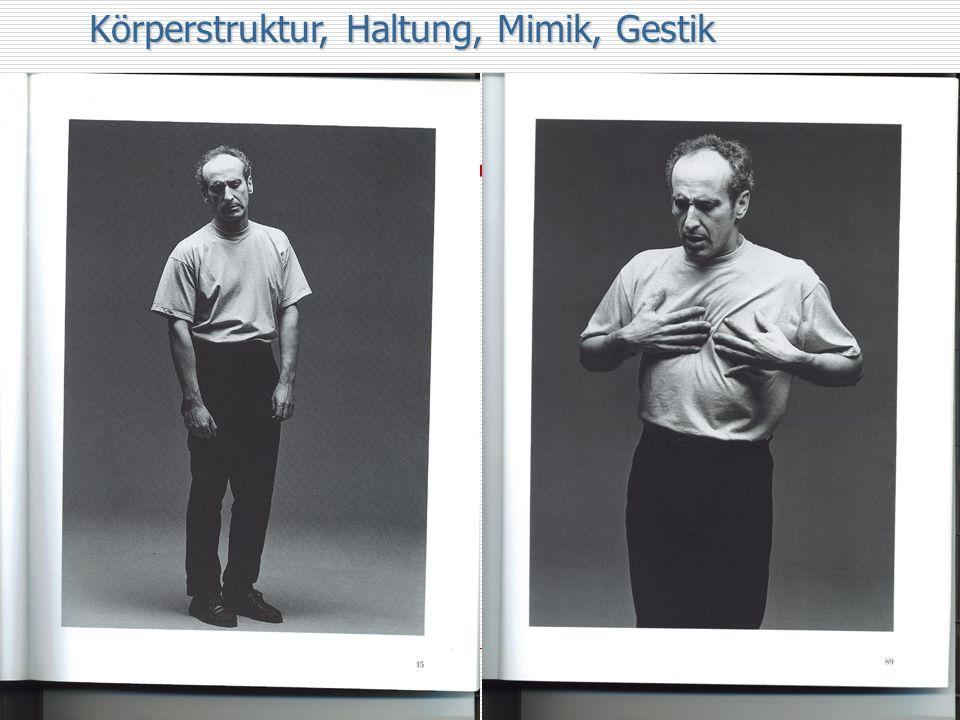 Körperstruktur, Haltung, Mimik, Gestik