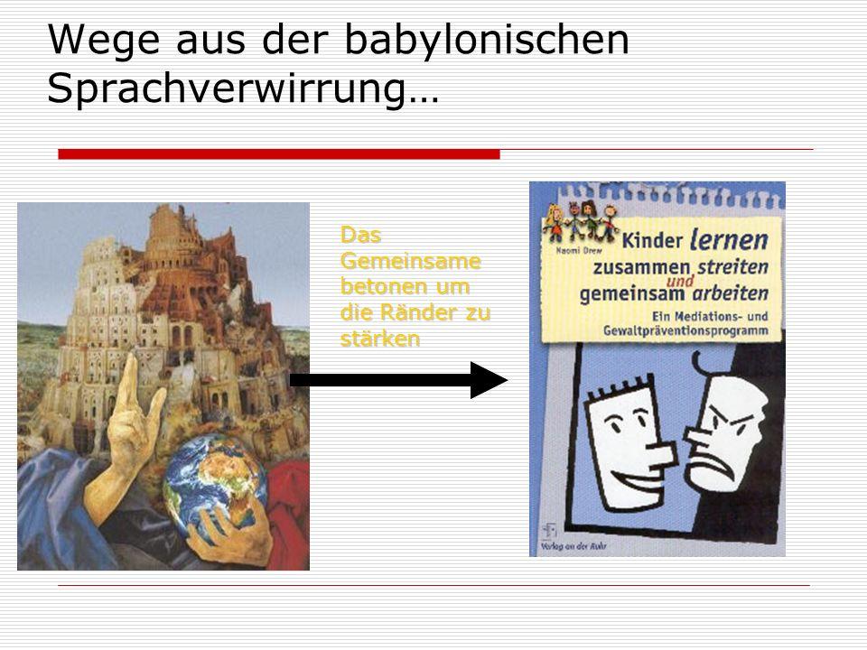 Wege aus der babylonischen Sprachverwirrung…