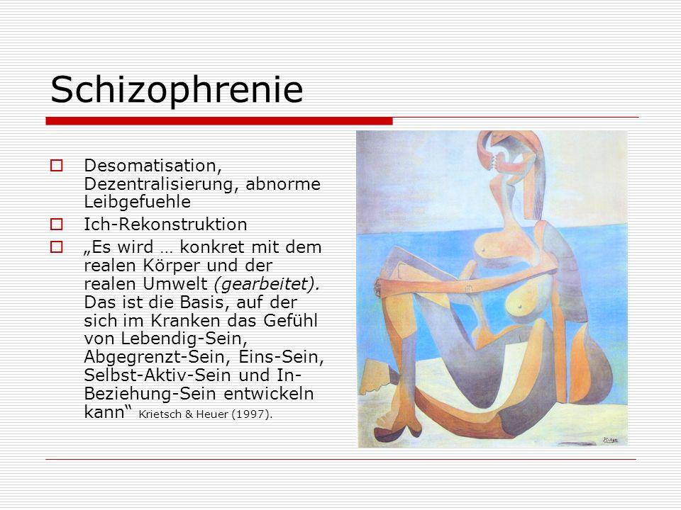 Schizophrenie Desomatisation, Dezentralisierung, abnorme Leibgefuehle