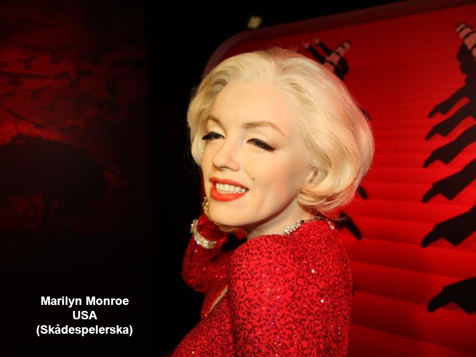 Marilyn Monroe USA (Skådespelerska)