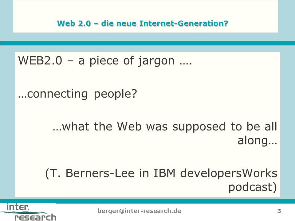 Web 2.0 – die neue Internet-Generation