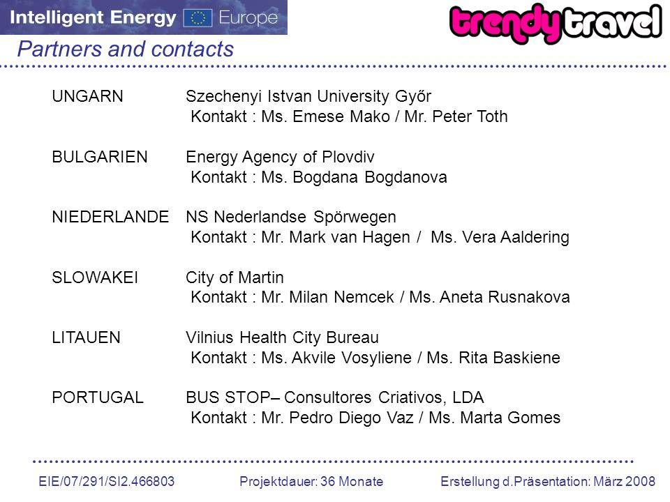 Partners and contacts UNGARN Szechenyi Istvan University Győr