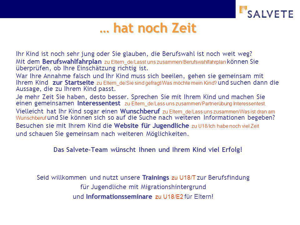 Das Salvete-Team wünscht Ihnen und Ihrem Kind viel Erfolg!