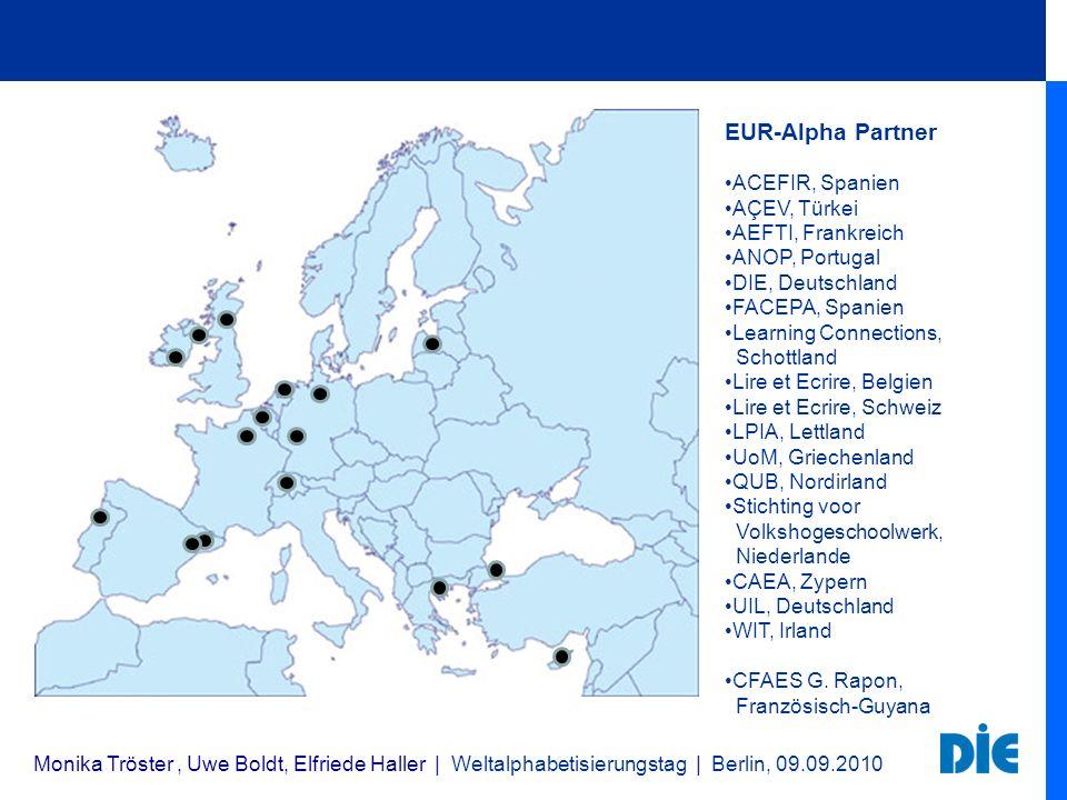 EUR-Alpha Partner ACEFIR, Spanien AÇEV, Türkei AEFTI, Frankreich