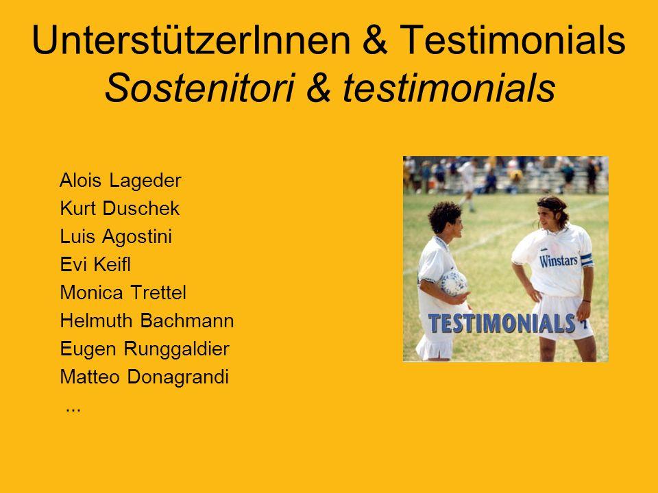 UnterstützerInnen & Testimonials Sostenitori & testimonials