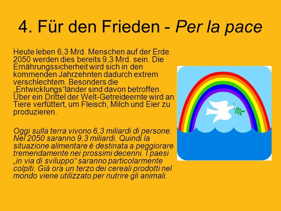 4. Für den Frieden - Per la pace