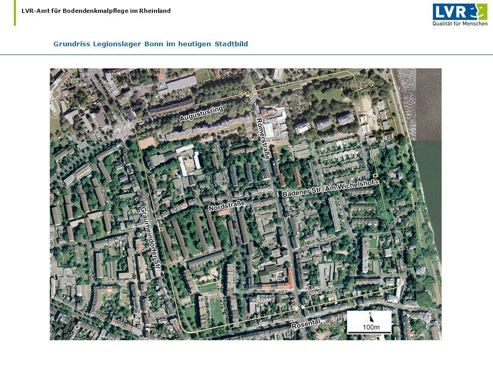 Grundriss Legionslager Bonn im heutigen Stadtbild