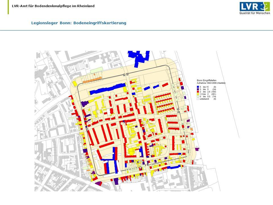 Legionslager Bonn: Bodeneingriffskartierung