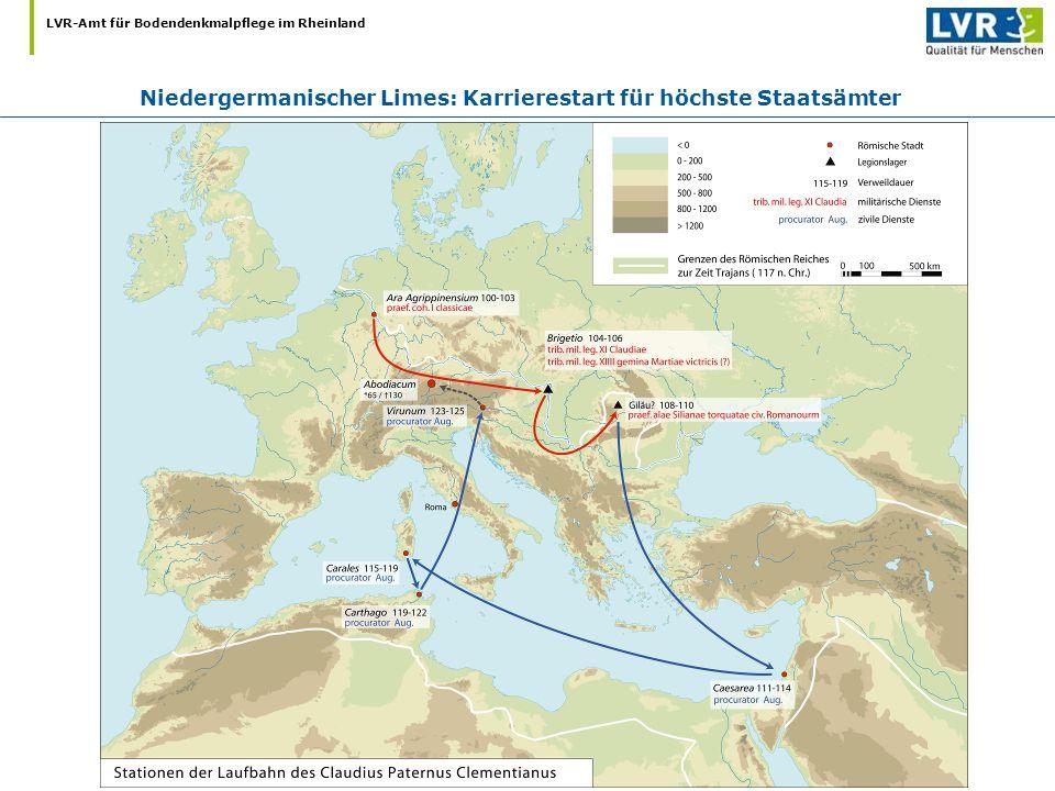 Niedergermanischer Limes: Karrierestart für höchste Staatsämter