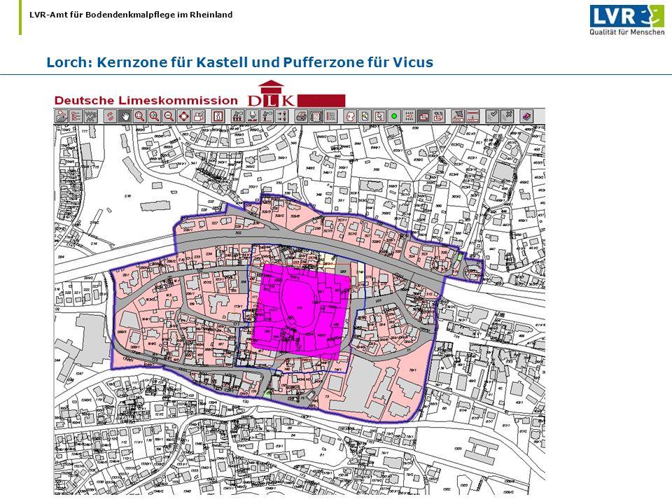 Lorch: Kernzone für Kastell und Pufferzone für Vicus