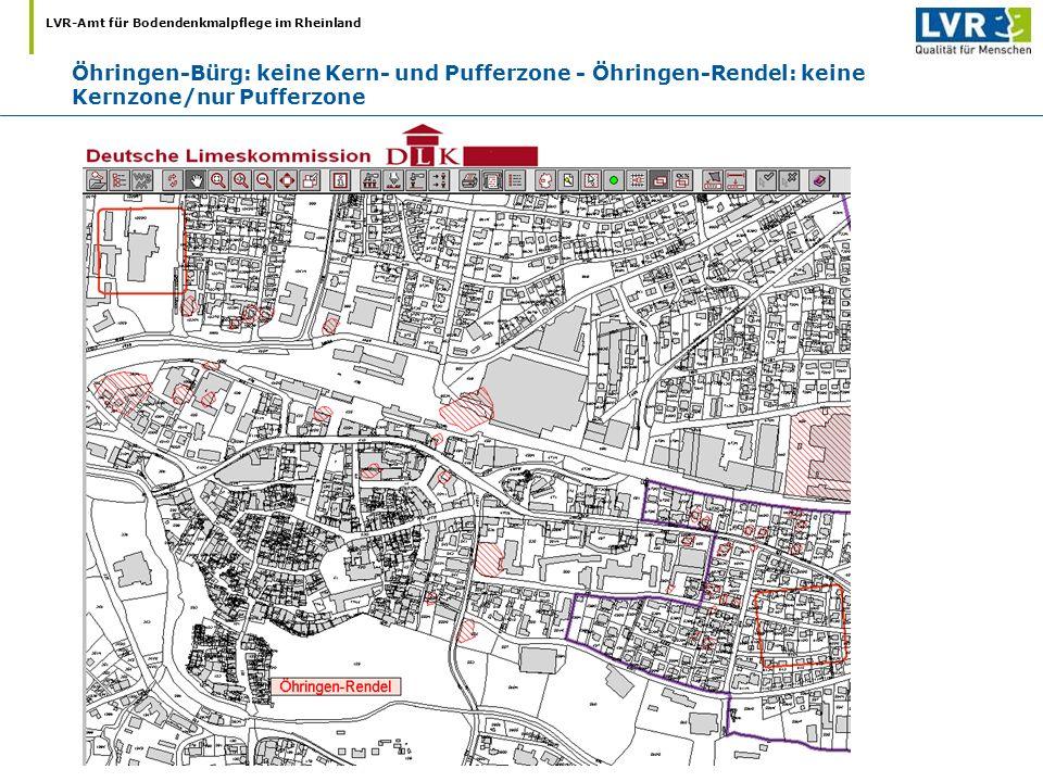 Öhringen-Bürg: keine Kern- und Pufferzone - Öhringen-Rendel: keine Kernzone/nur Pufferzone